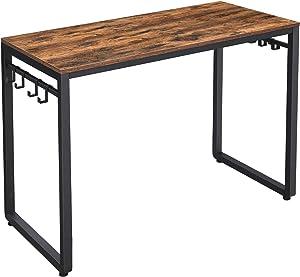 VASAGLE Home Office Desks, Rustic Brown, Black
