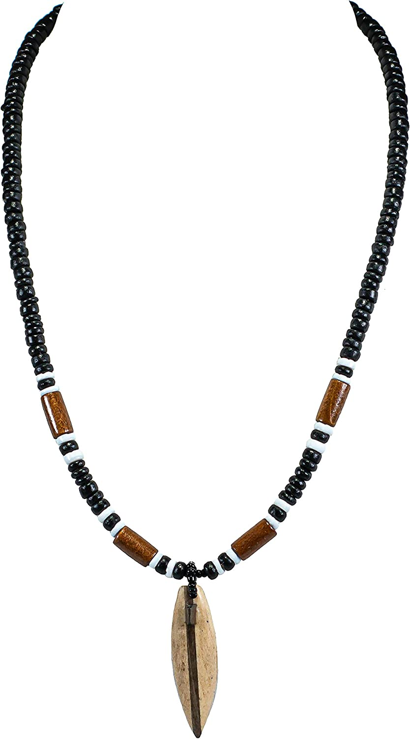 BoHo surf californian,Small necklace: beaded Indian Southwest hishi brown /& white shell beads and brass beads necklace.
