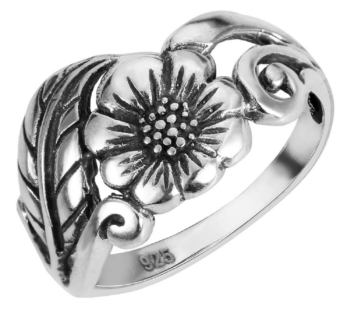 CloseoutWarehouse Sterling Silver Karen's Flower Ring Size 10