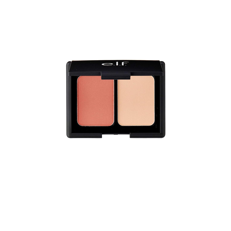 e.l.f. Matte Blush Duo Blendable Color Powder, Rosy Flush, 0.30 oz.