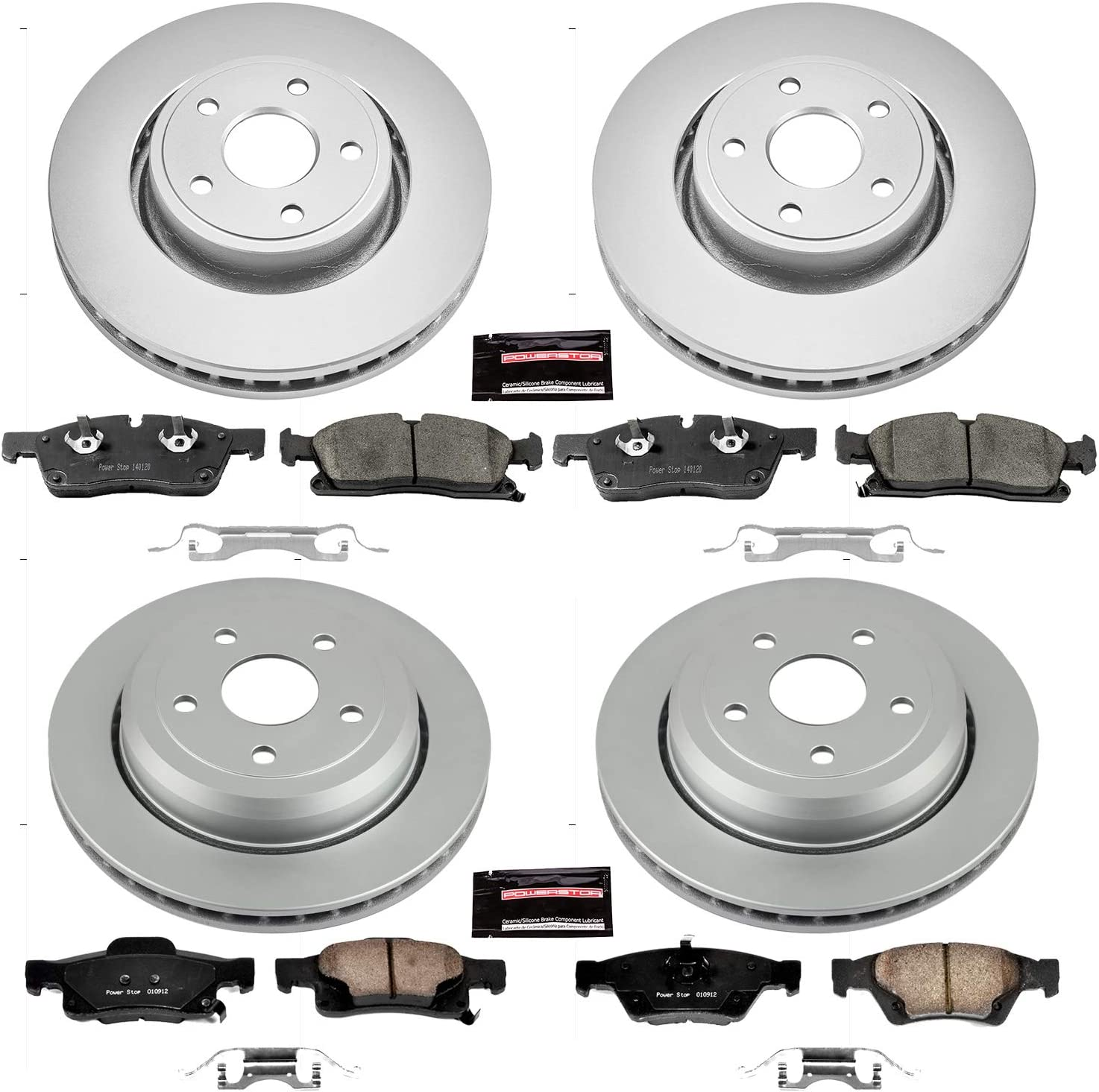 Power Stop CRK5507 front Z17 Evolution Geomet Coated Brake Kit