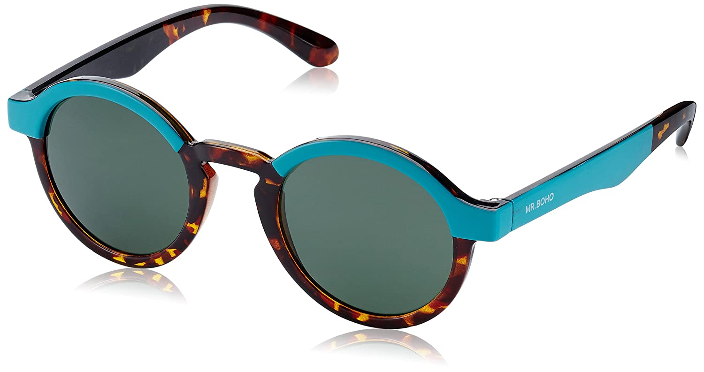 MR.BOHO, Turquoise/cheetah tortoise dalston with classical lenses - Gafas De Sol unisex multicolor (turquesa/carey), talla única