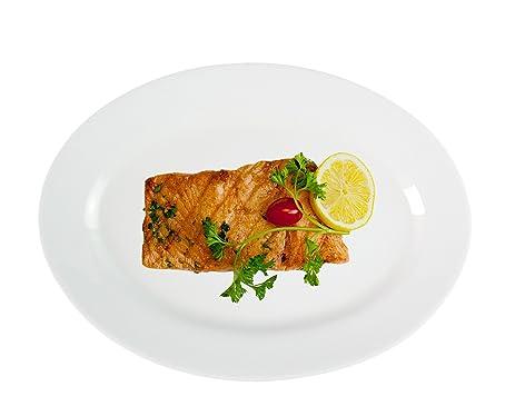 Dauerhaft Dinnerware 13 1/4u0026quot; Porcelain Oval Platter/Oval Dinner Plate/ Fish  sc 1 st  Amazon.com & Amazon.com | Dauerhaft Dinnerware 13 1/4