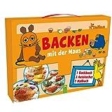 Backen mit der Maus - Kinderkoffer: Backbuch, 3 Ausstechförmchen und Malbuch im praktischen Kinderkoffer
