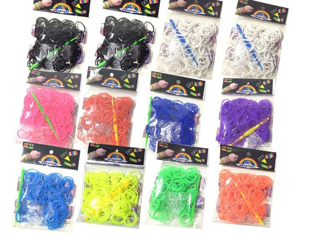 verschiedene Farben 10 Verbindungsstücke 200 Loom Gummibänder