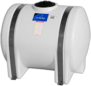 WaterPrepared 125 Gallon Water Storage Tank Emergency Water Barrel Container with Large Lid for Emergency Disaster Preparedness - Space Saving Long Lasting Storage - BPA Free