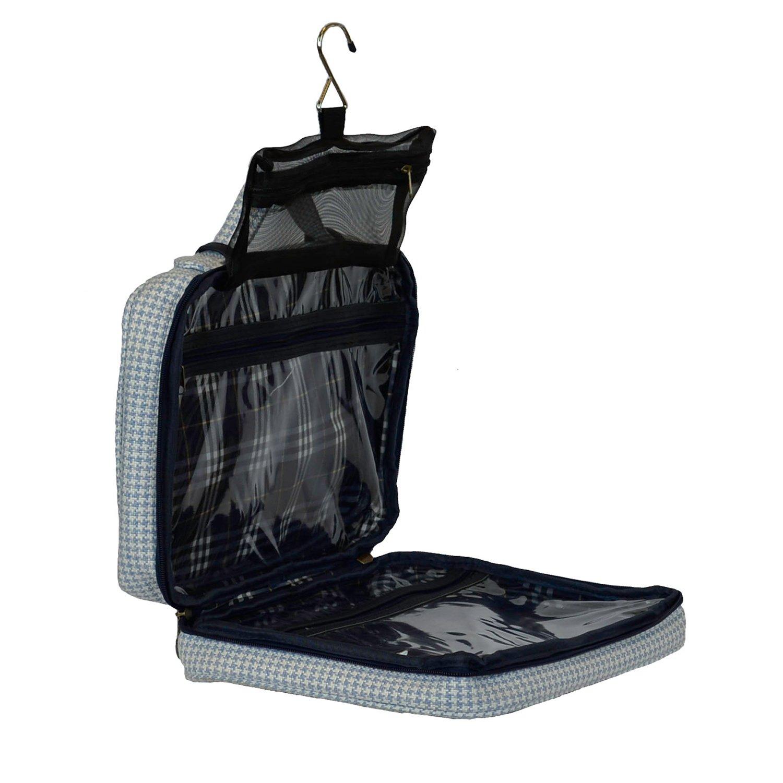 Bellemonde Hanging Toiletry Bag Travel Kit for Men and Women | Washable, Stain-resistant | Timeless Design Toiletry Organizer, Makeup Bag, Cosmetic Bag | Packs Flat 12'' x 10'' x 3.5'' | BL178PB Blue by Bellemonde (Image #6)