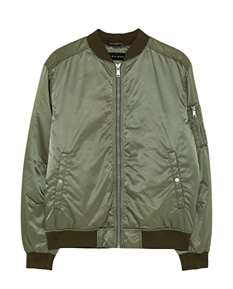 531e49a8c Zara Men's Quilted Bomber Jacket 6719/478 Green: Amazon.co.uk: Clothing