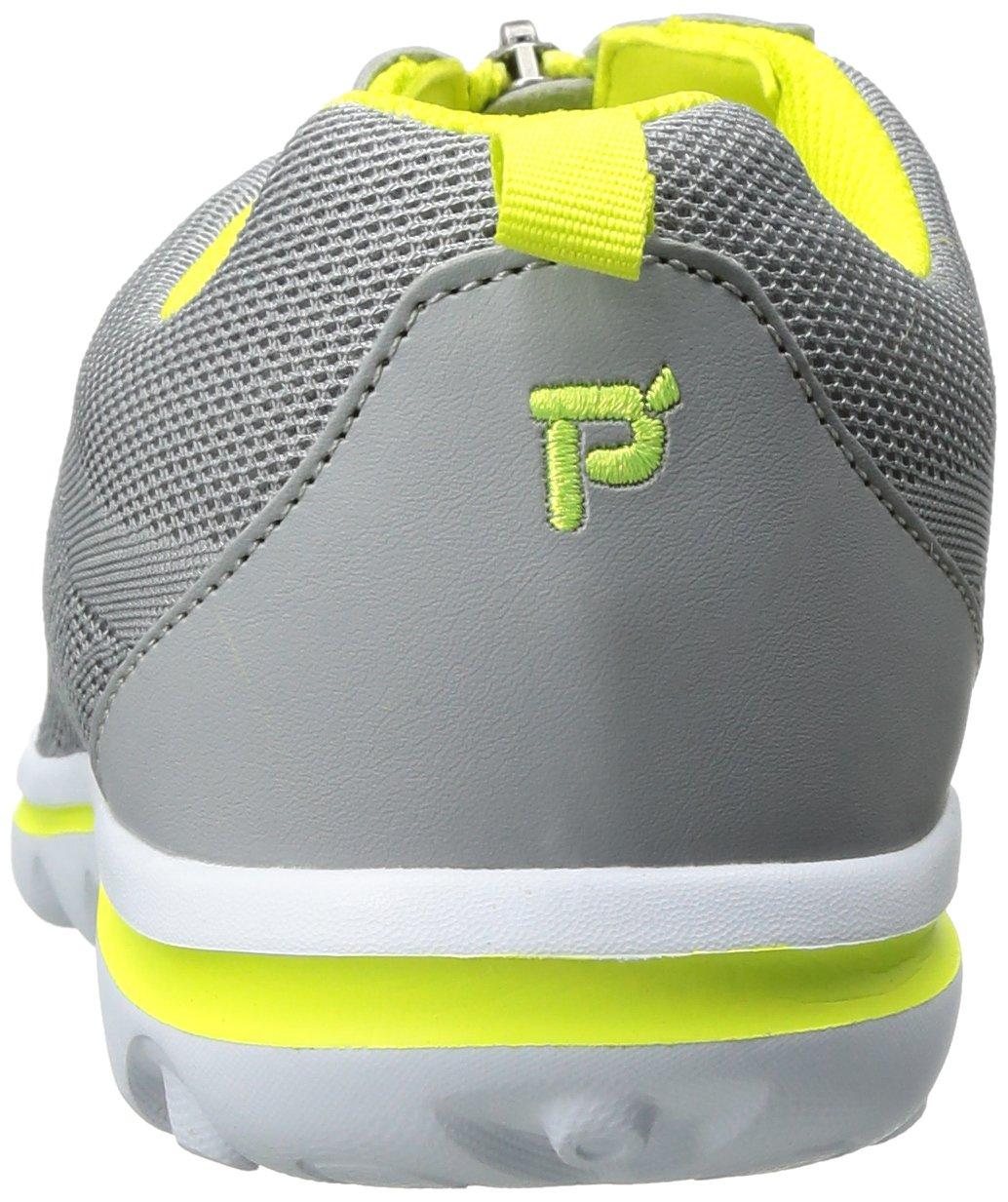 Propet Women's TravelActiv Zip Walking Shoe B01IODD7IG 7 4E US|Silver/Lime
