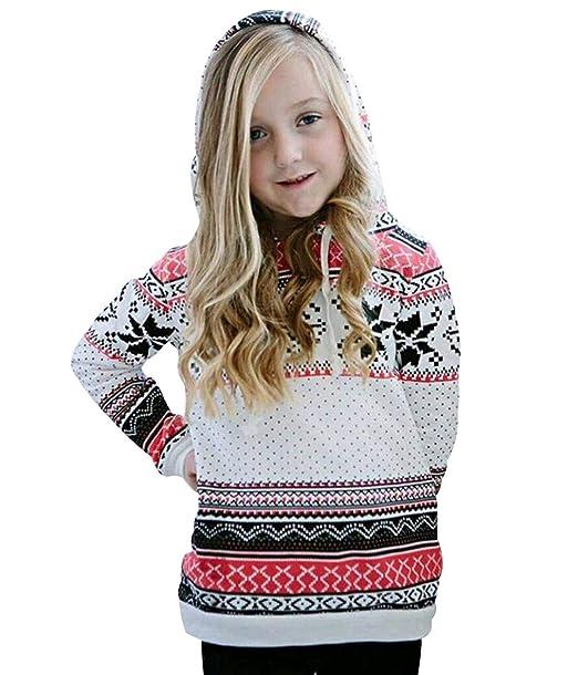 Sudadera Navidad con Capucha Mujer Sudaderas Navideñas Estampadas Jersey Navideño Chica Niña Sueter Reno Sweaters Pullover Hoodies Largas Oversize Anchas ...