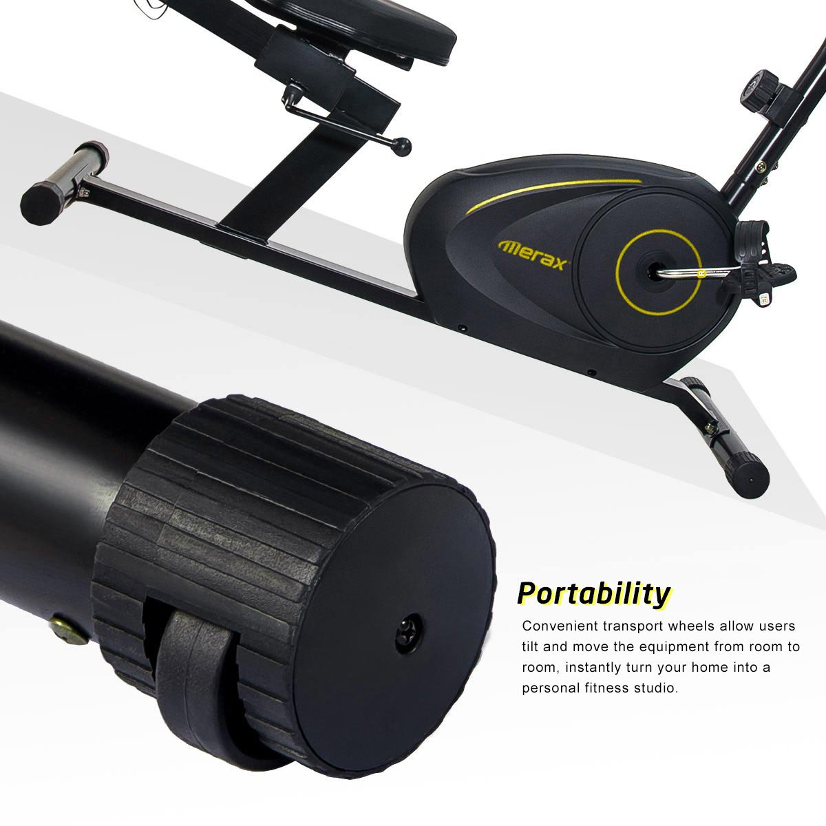 Merax Magnetic Recumbent Exercise Bike | 8-Level Resistance | Quick Adjust Seat (Black 2019) by Merax (Image #7)