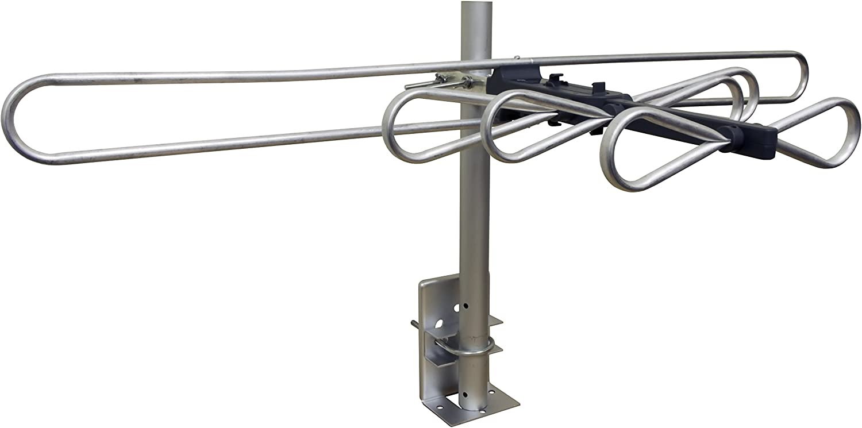 32647 GE Attic Mount TV Antenna Long Range Antenna Indoor Compact Design Digital HDTV Antenna 4K 1080P VHF UHF
