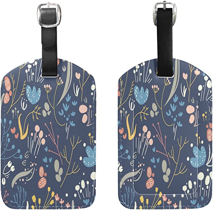 Saobao Travel Luggage Tag Wild Animals PU Leather Baggage Suitcase Travel ID Bag Tag 1Pcs