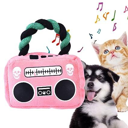 Awhao Juguete para perro, cachorro de peluche, sonido, masticar, chirriador, juguetes
