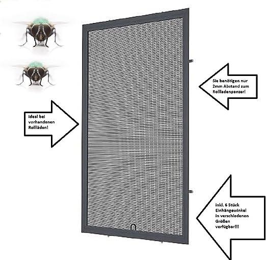 Alu Fliegengitter M/ücken Fenster Insektenschutz Weiss optimal f/ür Roll/äden 130cm x 150cm, 16mm Einh/ängewinkel