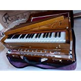 Trading Dukan Harmonium 9 Stopper, Chudidaar Bellow, 42 Key, Two Reed, Bass-Male, Kapler, Harmonium With Cover