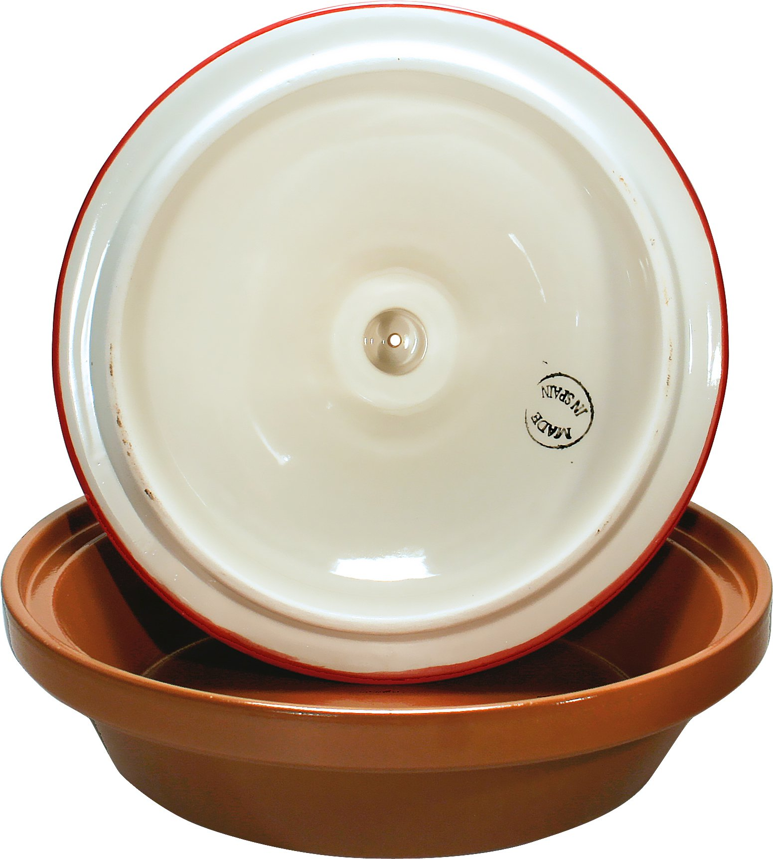 Reston Lloyd Hand Painted Natural Terra Cotta Tagine, 2-Quart, Almeria by Reston Lloyd (Image #3)
