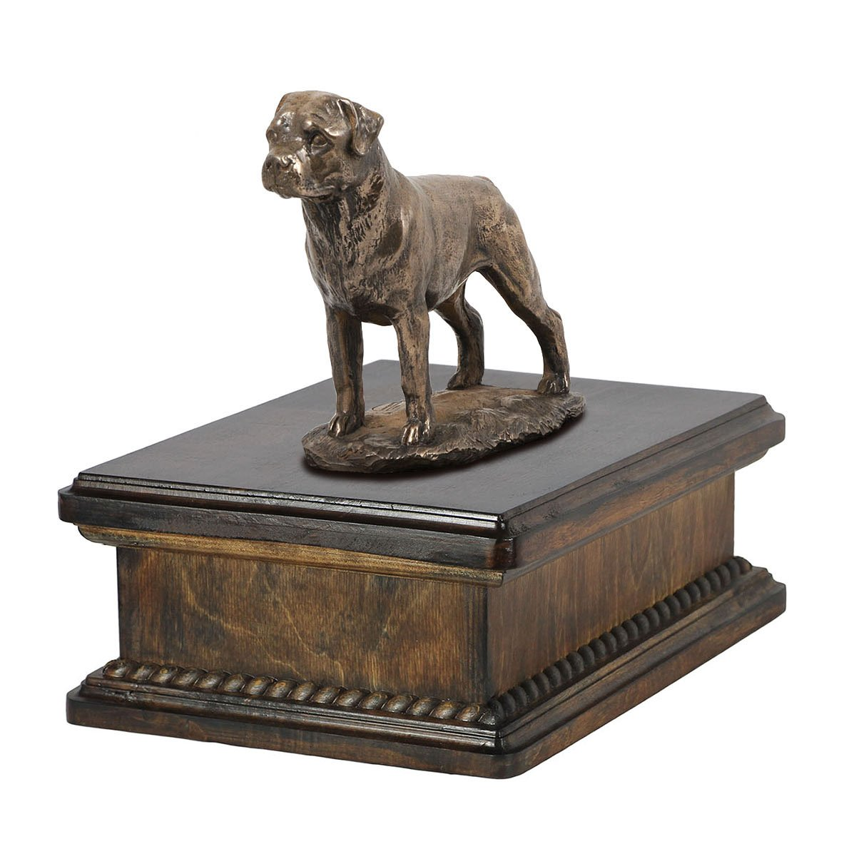 Rottweiler, memorial, urn for dog's ashes, with dog statue, exclusive, ArtDog