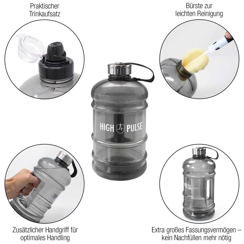 2,2/L/ /La pr/áctica botella es el compa/ñero ideal para fitness y entrenamiento de fuerza High Pulse Water Jug