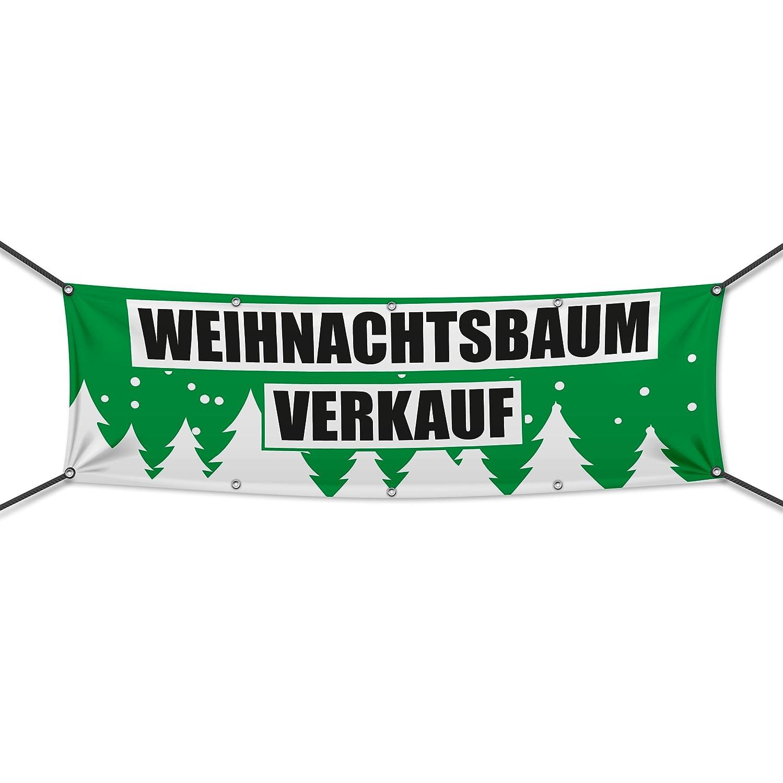 PVC) Weihnachtsbaumverkauf grün Banner, Plane, Werbeschild ...