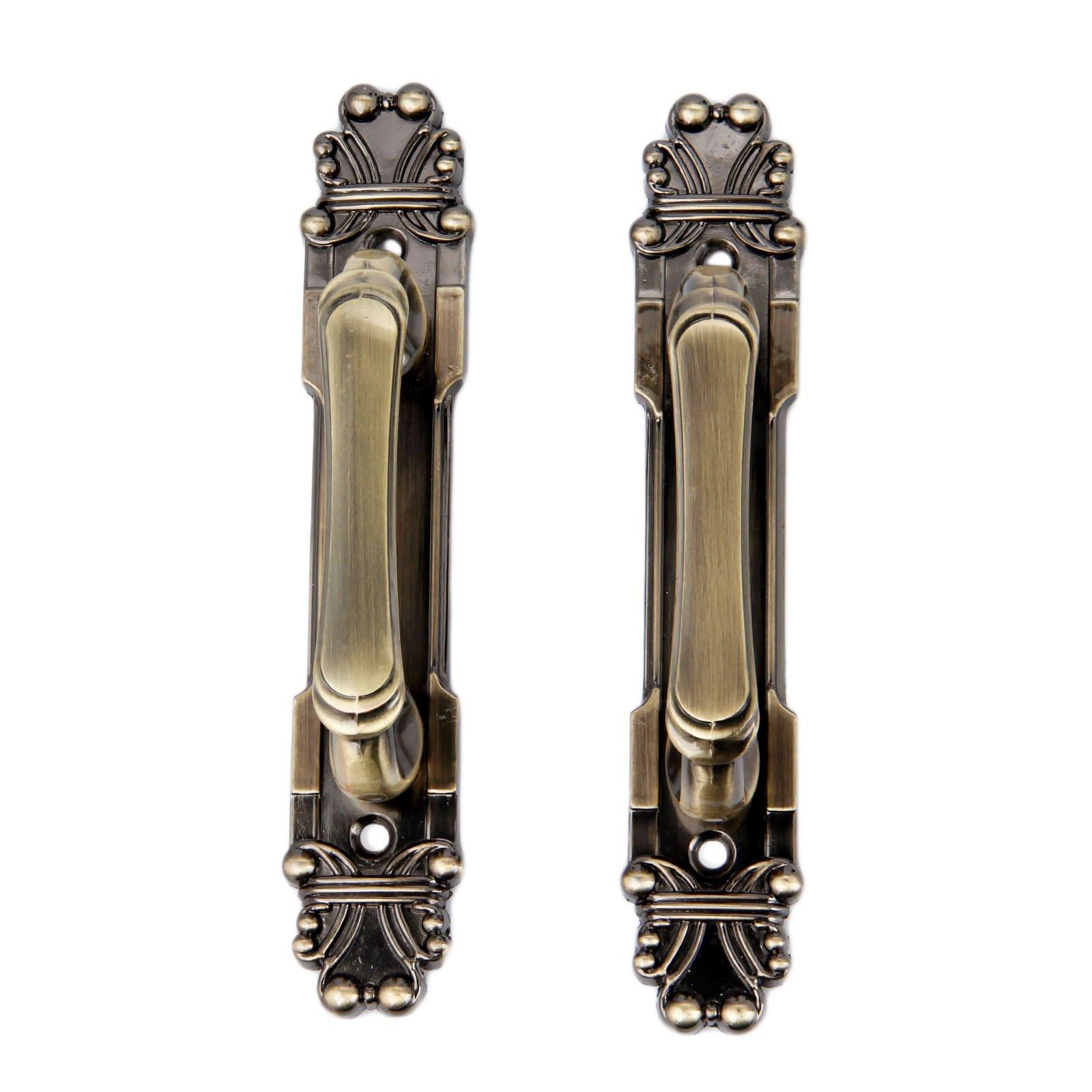 10Pcs 165mm European Style Vintage Brass Metal Knobs Handles For Home Cabinet Door Drawer Wardrobe Cupboard Antique Bronze