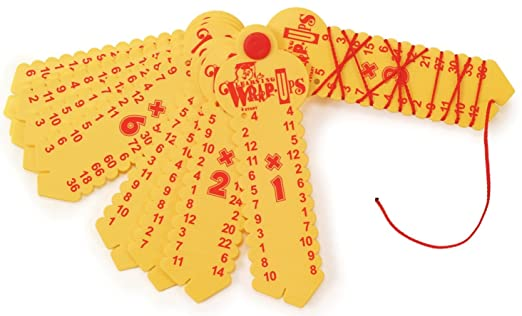 Amazon.com: Learning Wrap-ups Multiplication Keys, Yellow: Toys ...