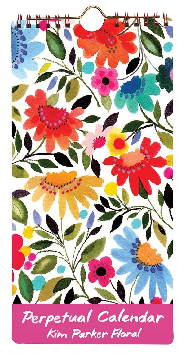 Kim Parker Floral Perpetual Calendar Galison Kim Parker