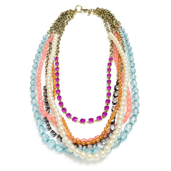 Via Mazzini Beaded Chain Reaction Necklace Chains & Necklaces at amazon