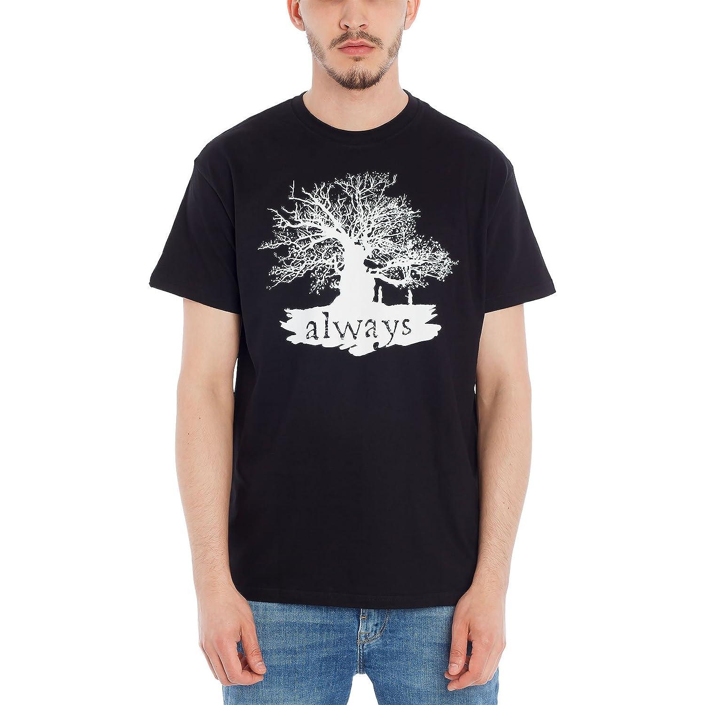 Harry Potter T-Shirt Always von Elbenwald Baumwolle Schwarz
