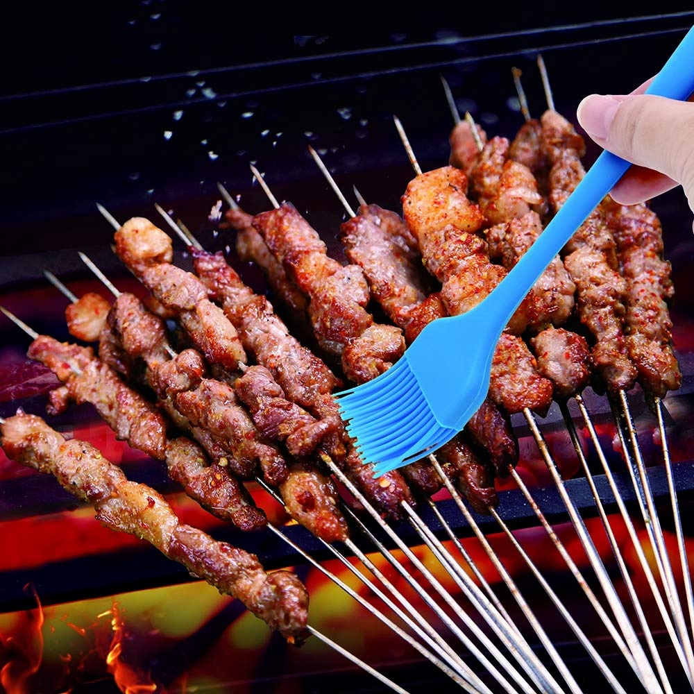 Blue iTimo 1Pc BBQ Tool Soft Pastry Brushes Sweep Grilling Cook Kitchen Flexible Silicone Basting Brush High Heat Resistance Brush