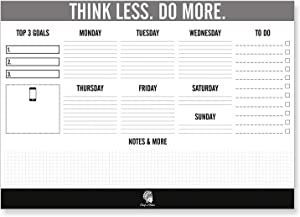 CHIEFS & TRIBES Desk Pad Calendar for Writing I Paper: White I Tear-Off Sheets I for Dates & Notes I Daily Planner & Weekly Overview I to-Do List 2020