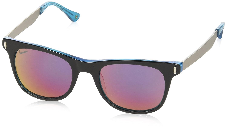 52 Nero//Celeste Black Vespa Unisex Adults/' Eye Sunglasses