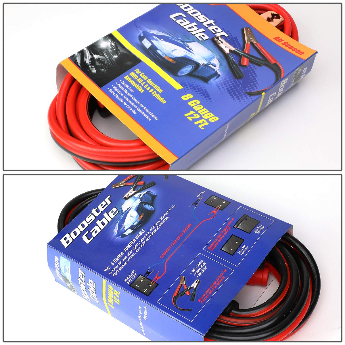 Heavy Duty 20Ft 2Gauge Booster Cable Power Jumper 600AMP Emergency Battery Start Car//Motorcycle