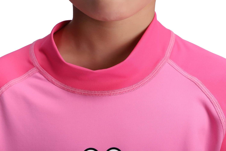 Cressi Rash Guard Short Jr 50+ Bambini UPF Maglia Protettiva in Tessuto Elastico con Protezione Solare UV