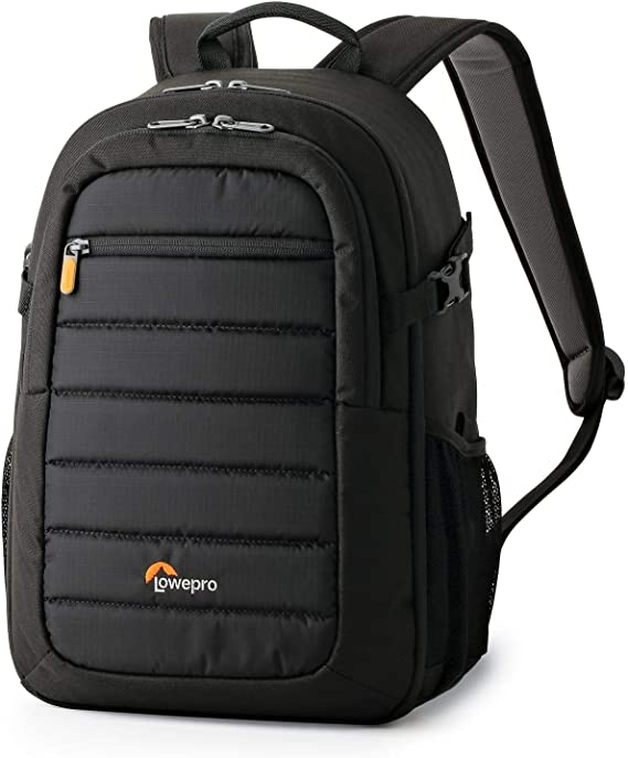 LowePro Tahoe BP 150. Lightweight Compact Camera Backpack for Cameras and DJI Spark Drone (Black).