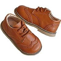 Joeupin Boys Girls Oxfords Shoes Lace Up Flat School Uniform Dress Shoes