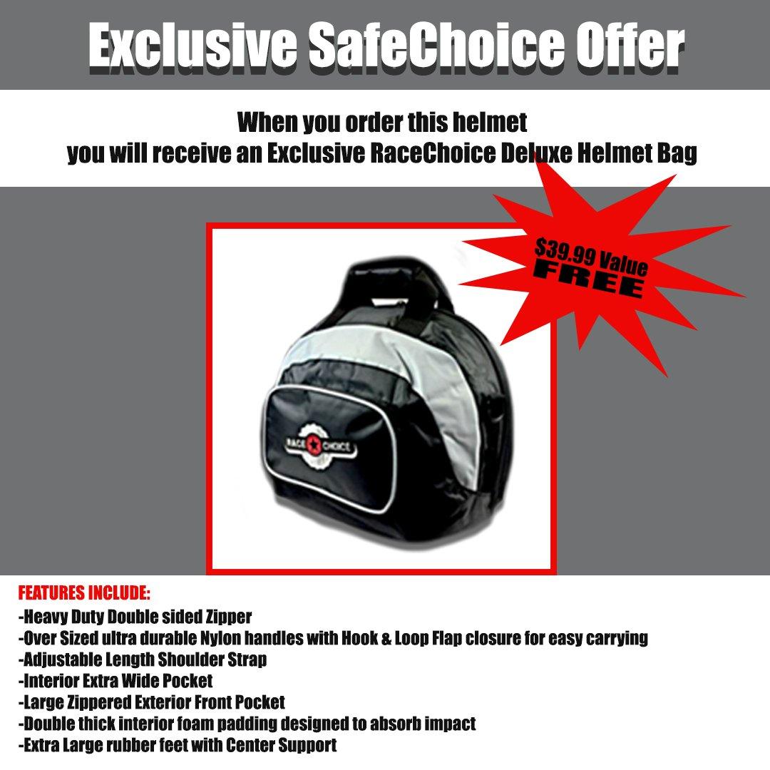 Simpson 6200038 Helmet, Flat Black, Large - Free Deluxe Helmet Bag Included