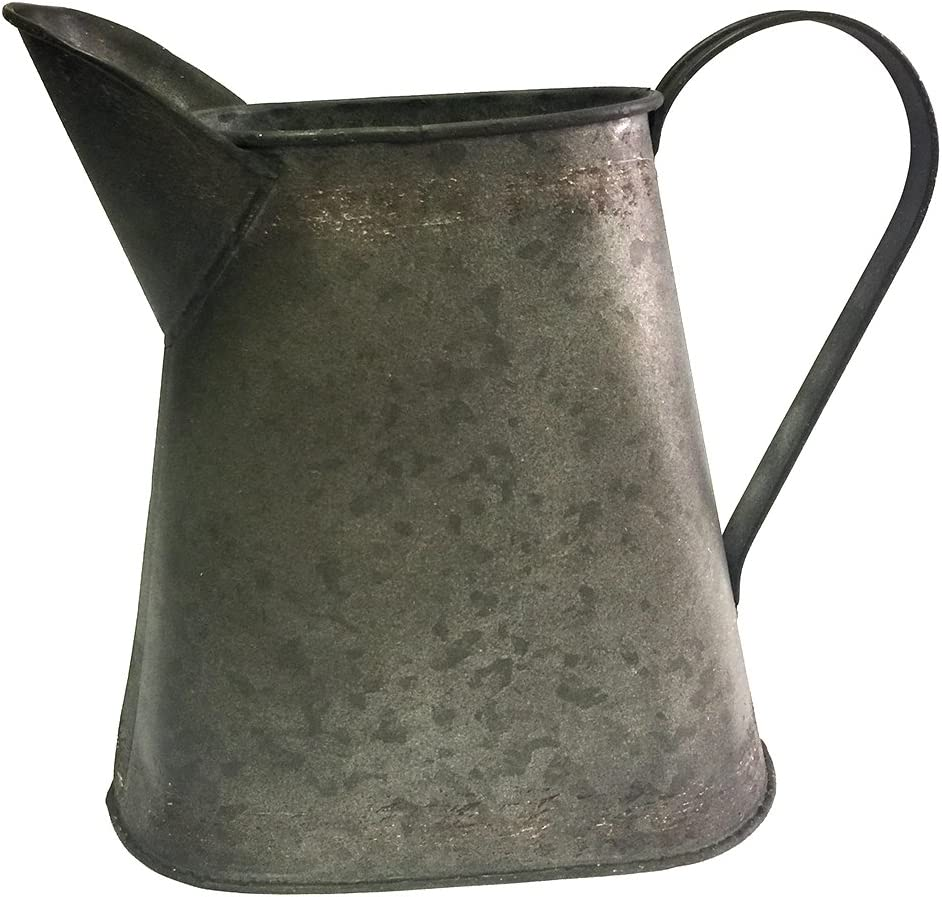 Colonial Tin Works Small Decorative Industrial Tabletop Metal Pitcher