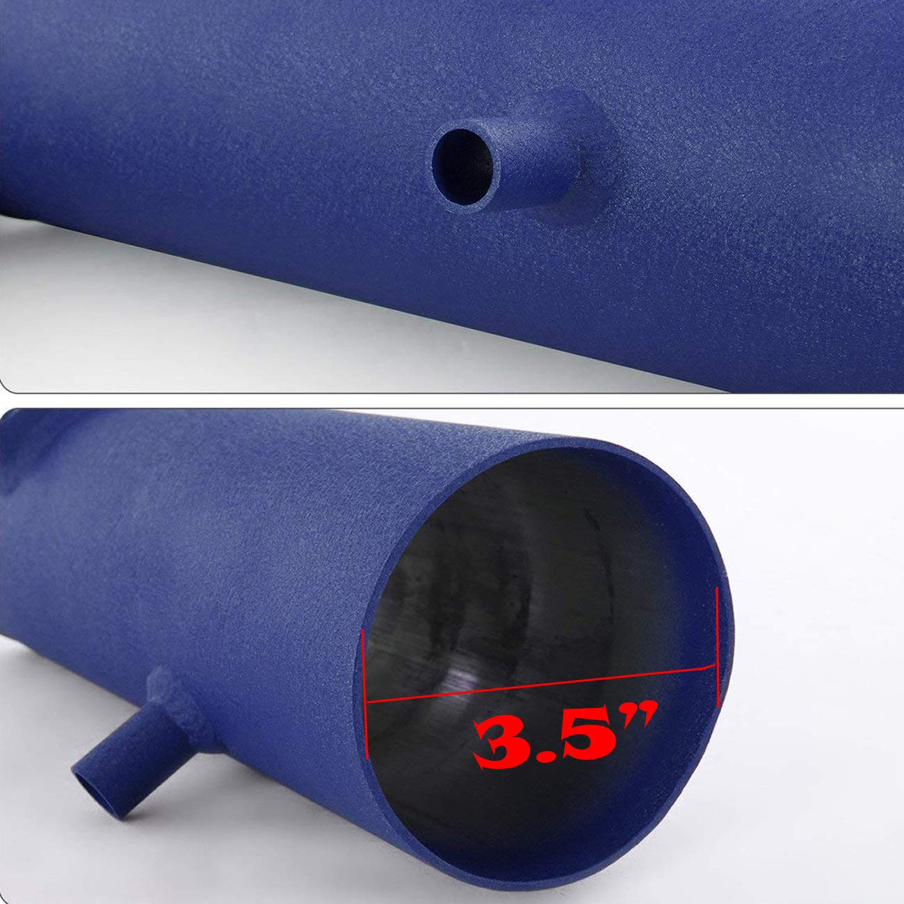 For 2012-2015 Chevy Camaro 3.5 Inch Aluminum High Flow Air Intake Kit Blue Heat Shield Pipe with Filter V6 3.6L Only