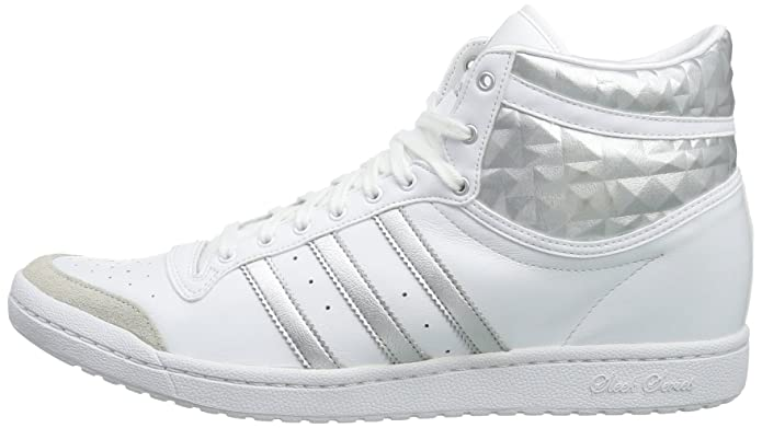 the latest 2c423 6e5af adidas Originals Womens Top Ten Hi Sleek Heel Trainers White Weiß (Running  White Ftw Metallic Silver Metallic Silver) Size  9  Amazon.co.uk  Shoes    Bags
