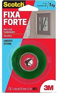 Fita Dupla Face Fixa Forte, Scotch HB004420194, Transparente