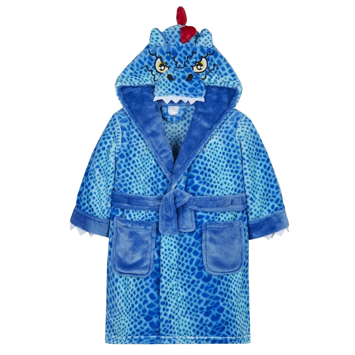 Strong Souls Boys Novelty Hooded Dino Dragon Dressing Gown MNCK2288