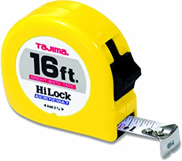 TAJIMA Tape Measure HL-16BW 16 ft x 1 inch Hi-Lock with Durable ABS Case NEW
