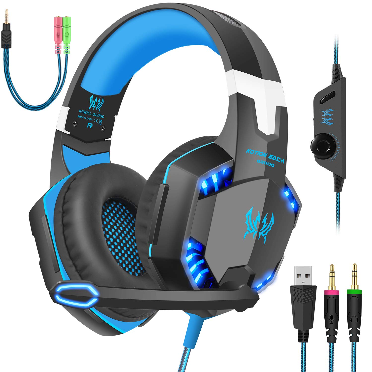 Gaming Headset with Mic for PC, PS4, Xbox One