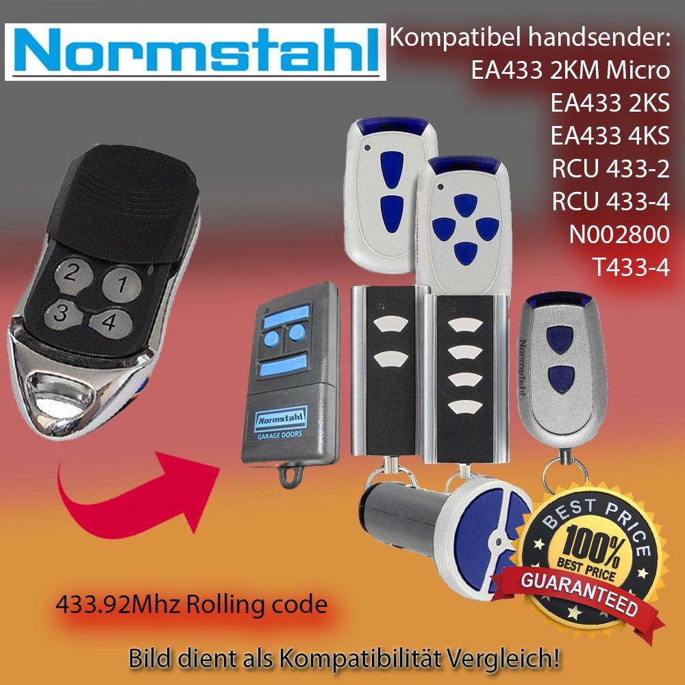 KOMPATIBEL MIT NORMSTAHL EA433 4KS Handsender Antriebe