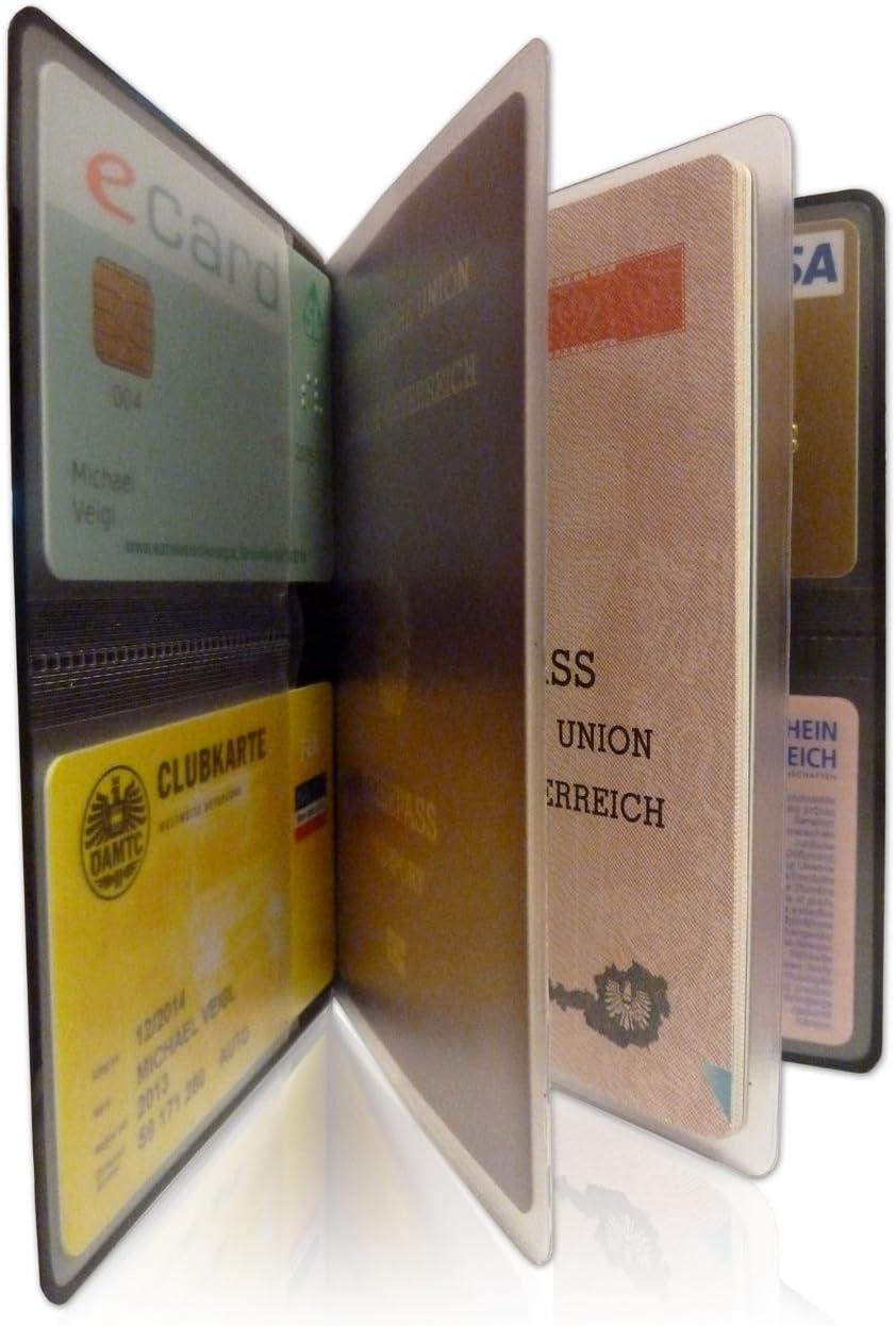 Bleu Turquoise - 300235 Bleu SECVEL /Étui de Voyage pour 1 Passeport, 4 Cartes, Carte didentit/é ou Argent Barre RFID//NFC /& Champ magn/étique Fabriqu/é en Autriche