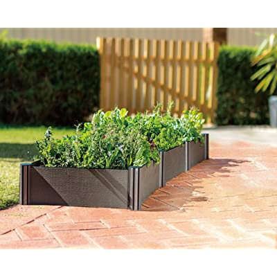 WatexUrban Farming WX037 Triple Raised Garden Bed Kit, Micro Irrigation kit included, Grey : Garden & Outdoor