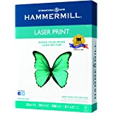 Hammermill Paper, Laser Print, 32lb, 8.5 x 11, Letter, 98 Bright, 500 Sheets / 1 Ream (104646), Made in the USA