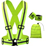 Reflective Safety Vest - High Visibility Sports Gear for Running Walking Jogging Cycling