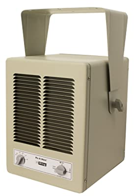 King KBP2406 5700-Watt MAX 240-Volt Single Phase Paw Unit Heater, Almond